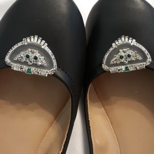 Jewelry - Vintage Diamond and Emerald Shoe Clips